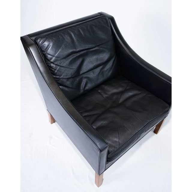Borge Mogensen Model #2207 Leather Lounge Chair - Image 9 of 10