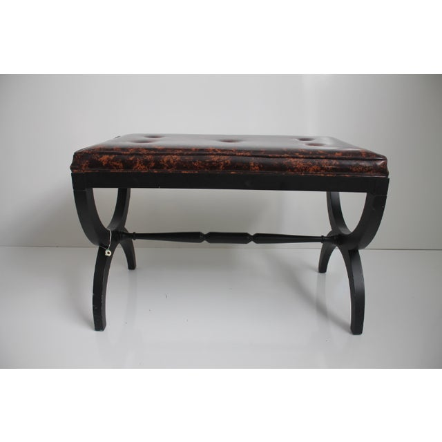 Charlotte Michigan Company Black & Brass Bench - Image 3 of 10