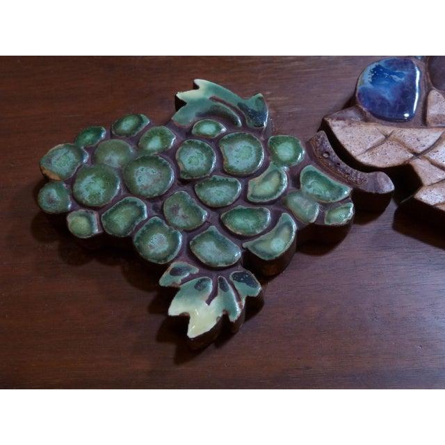 Ceramic on Wood Still Life Wall Art - Image 3 of 5