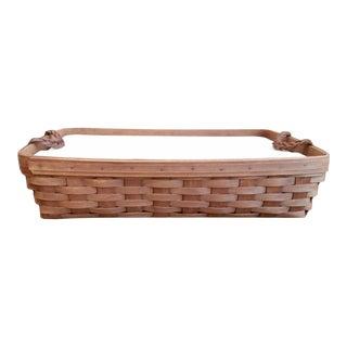 Vintage Longaberger Serving Tray Basket with Segmented Protector & Lid For Sale