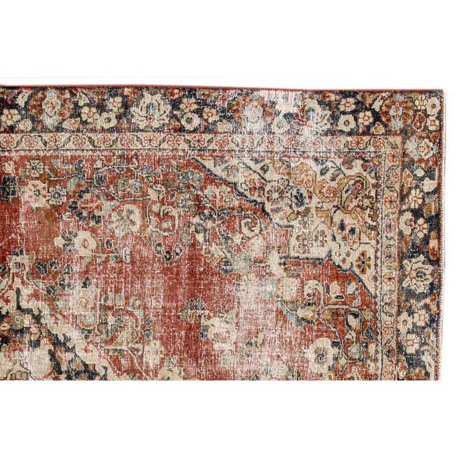 "Islamic Apadana-Antique Persian Distressed Rug, 6'6"" X 9'1"" For Sale - Image 3 of 10"