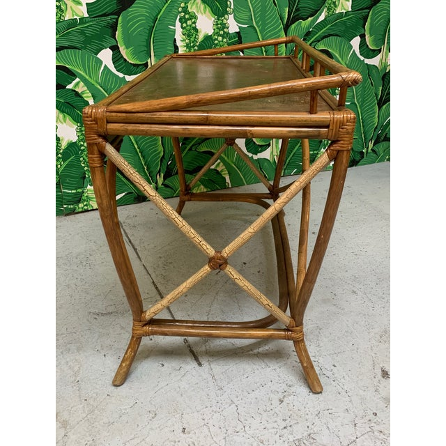 Mid Century Bamboo Desk and Chair For Sale In Jacksonville, FL - Image 6 of 13