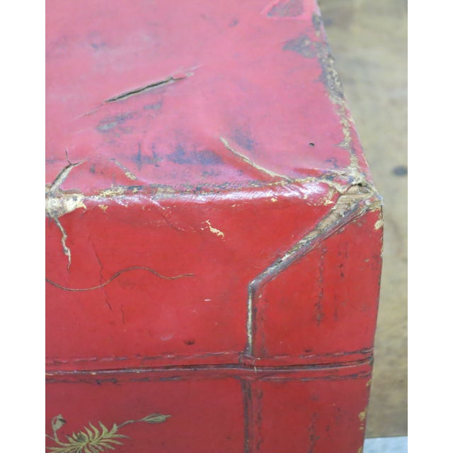 Antique Chinese Leather Trunk For Sale - Image 12 of 13