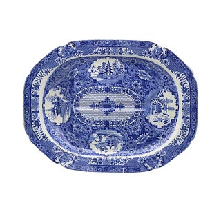 Antique Spode Net Well & Tree Platter For Sale
