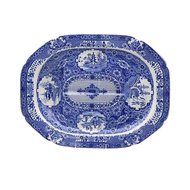 Antique Spode Net Well & Tree Platter - Image 1 of 4
