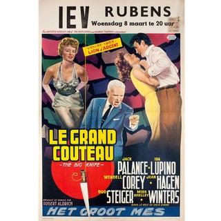 The Big Knife 1955 Belgian Film Poster For Sale