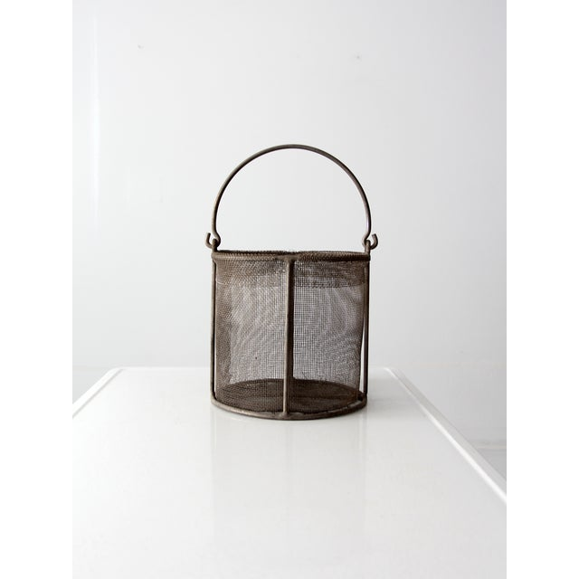 Vintage Wire Mesh Bucket With Handle - Image 5 of 8