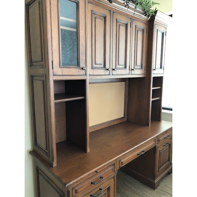 French Custom Built Desk With Storage Cabinetry For Sale - Image 3 of 12
