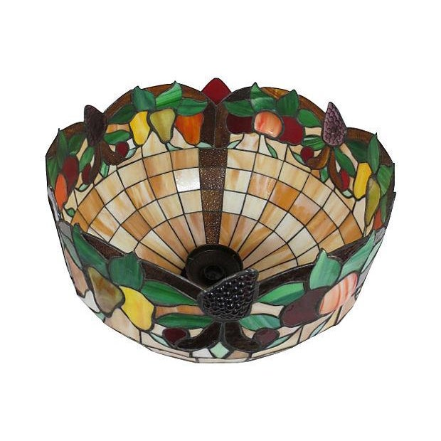 Stained Glass Light Fixture - Image 5 of 6