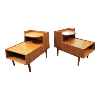 1950s Mid-Century Modern Kipp Stewart for Drexel Declaration End Tables/Nightstands -a Pair For Sale