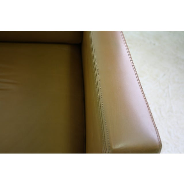 Knoll Pfister Brown Leather Club Chair - 4 Avail. - Image 6 of 6