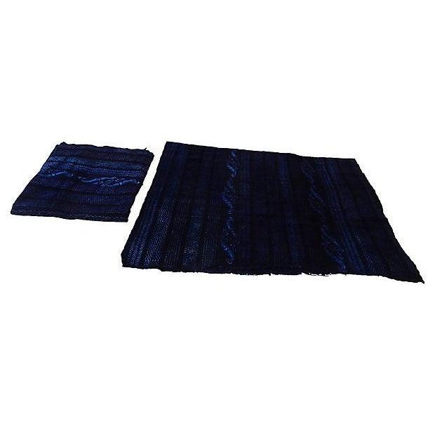Indigo Mali Textiles - A Pair - Image 4 of 8