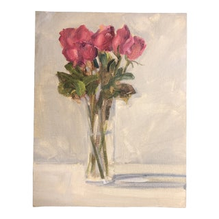 Original Contemporary Still Life Roses Painting For Sale