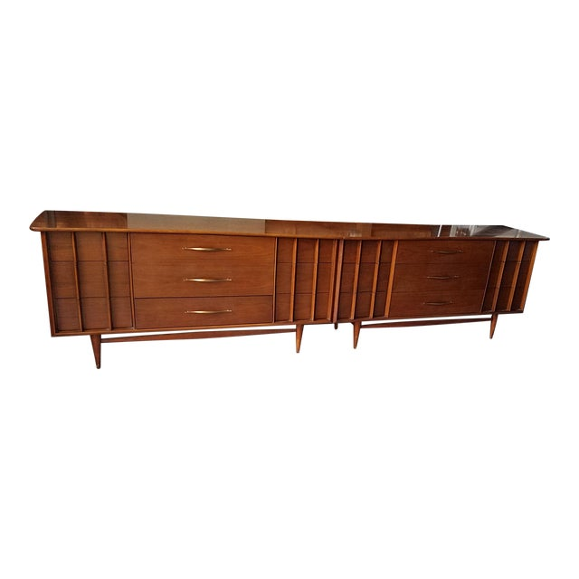20th Century Danish Modern Kent-Coffey Double Dresser For Sale