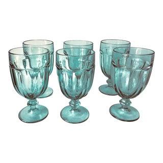 """Vintage Libbey 'Gibraltar' 7"""" Water Goblets - Set of 6 For Sale"""