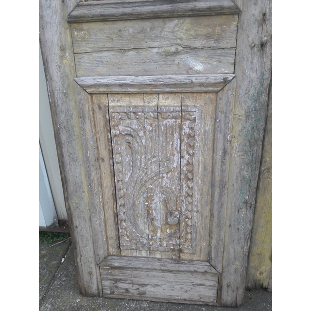 Antique French Iron Grill Door Rustic Farmhouse Natural Doors - a Pair For Sale - Image 9 of 11