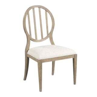Woodbridge Emma Slatted Oval Side Dining Chair For Sale