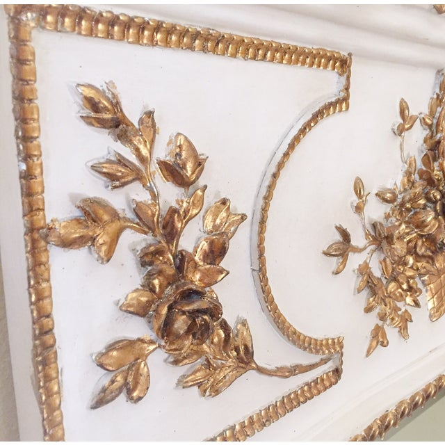 French White & Gilt Trumeau Mirror - Image 6 of 11