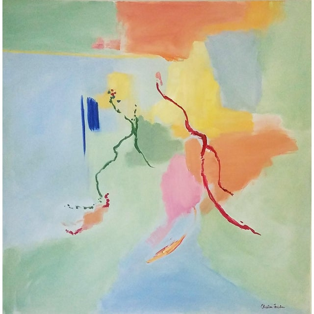 "Christine Frisbee ""The Dance"" Abstract Oil Painting For Sale In New York - Image 6 of 6"