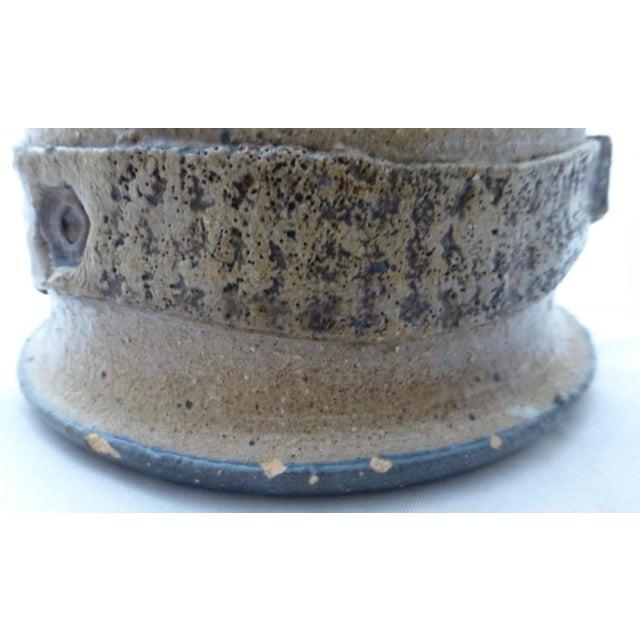 Ceramic Mid Century Signed Studio Pottery Vase For Sale - Image 7 of 10