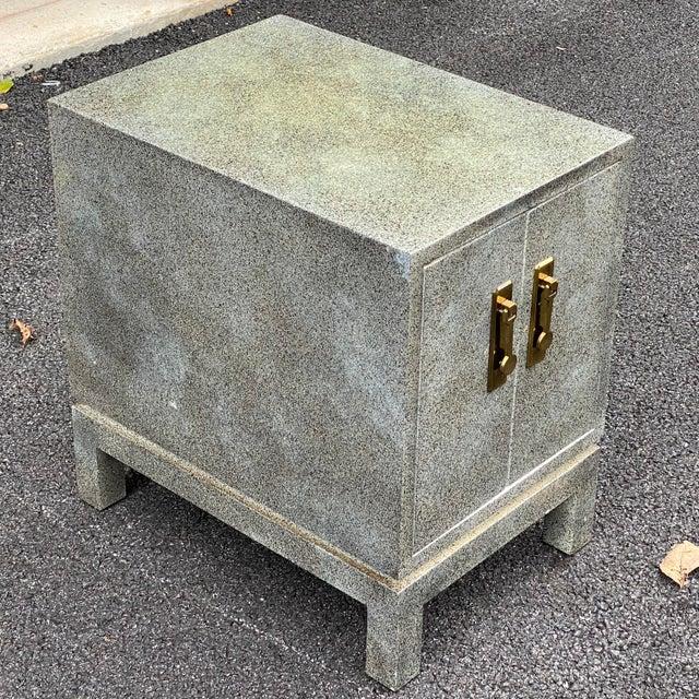 Modern Karl Springer Style Cabinet Side Table For Sale - Image 3 of 13