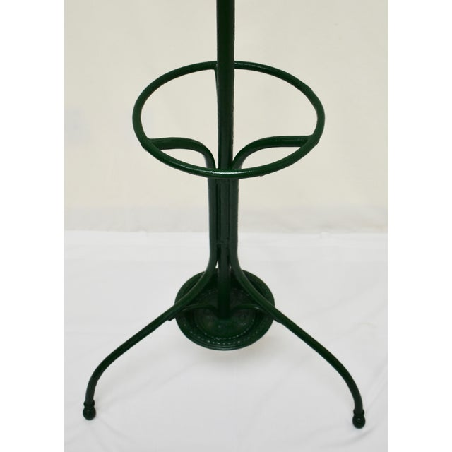 Vintage Green Cast and Wrought Iron Hall Tree For Sale In Washington DC - Image 6 of 9