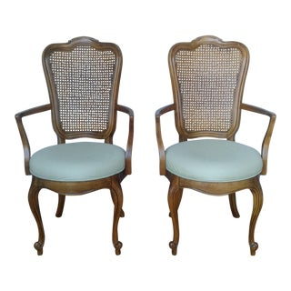 Thomasville French Provincial Cane Back Chairs - A Pair