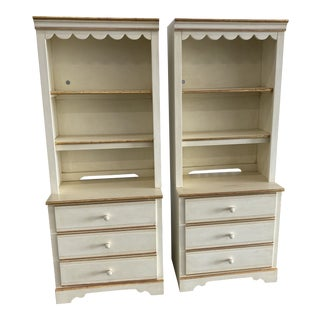 Lane Furniture 3 Drawer Bookcases-a Pair For Sale