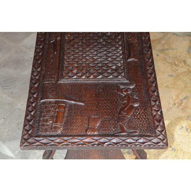 African Coffee Table For Sale In Los Angeles - Image 6 of 8