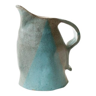 Studio Art Pottery Pitcher, Vase - Signed For Sale