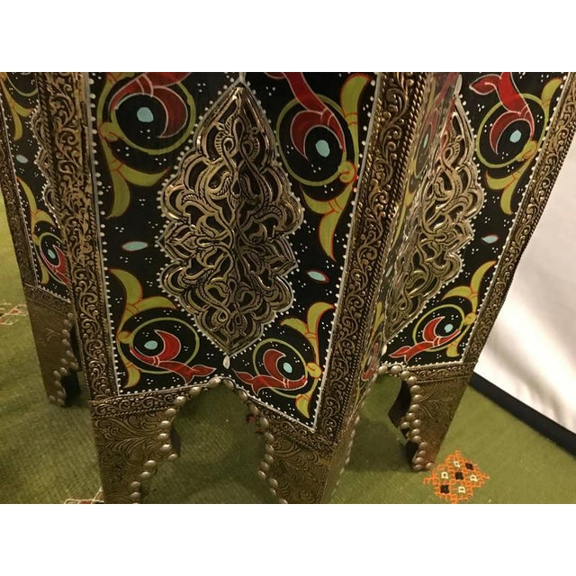 Star-Shaped End Table or Footstool With Ebony Inlays For Sale In New York - Image 6 of 9