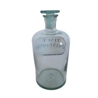 Antique Tinct. Aurant. Pomor Blue Glass Apothecary Bottle Preview