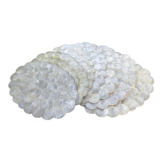 Capiz Shell Placemats- Set of 7 For Sale