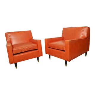 Mid-Century Paul McCobb Style Lounge Chairs - A Pair For Sale