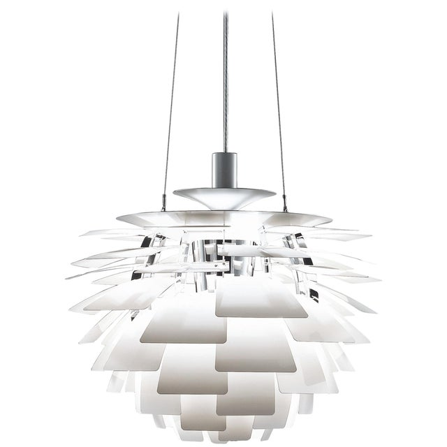 Poul Henningsen White PH Artichoke Chandelier for Louis Poulsen For Sale In Los Angeles - Image 6 of 6