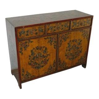 Antique Tibetan 4 Door Cabinet