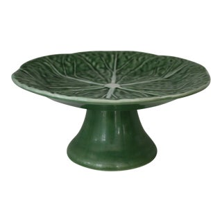 "7"" Diameter Pedestal Dessert Stand Cabbage Green by Bordallo Pinheiro"