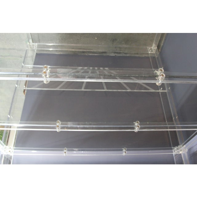 Lucite and Mirrored Top King Size Bed For Sale - Image 9 of 11