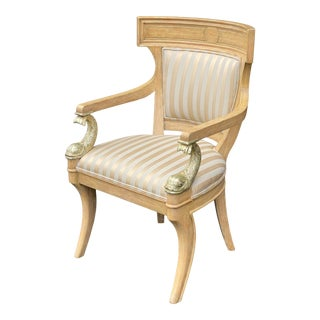 Dolphin Carved Armchair For Sale