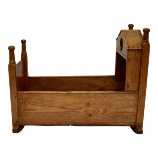 Irish Pine and Oak Rocking Cradle For Sale