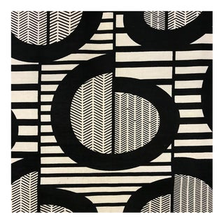 Vintage Black & White Abstract Fabric - 7 Yards