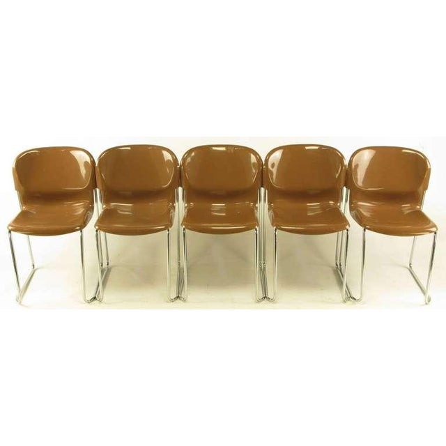 Four Gerd Lange West German Chrome SM 400 Swing Chairs - Image 2 of 9