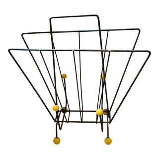 Mid-Century Modern 1950's Atomic Sputnik Magazine Rack For Sale