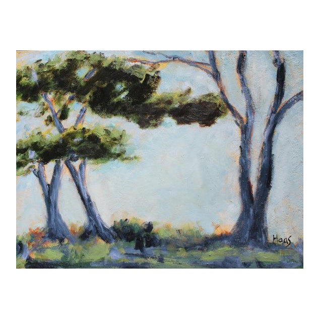 """""""Monterey Cypress Trees"""" Oil Painting For Sale"""