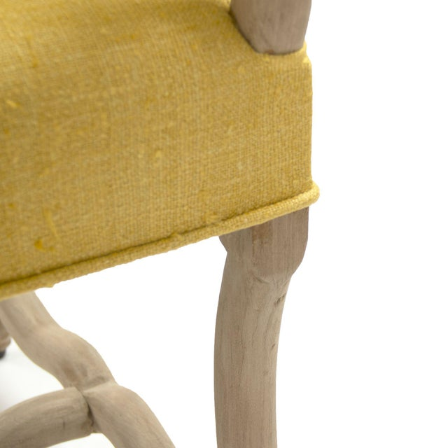 Moor Bench in Small in Mustard For Sale - Image 4 of 6
