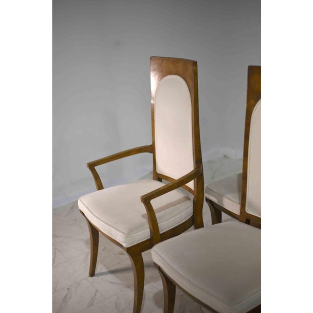 1960s Hollywood Regency Amboyna Wood Dining Chairs by Mastercraft - Set of 6 For Sale - Image 12 of 13