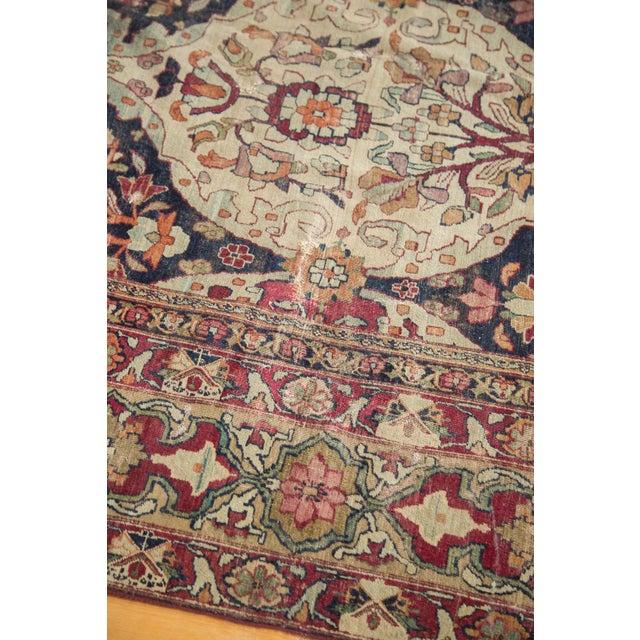 "Antique Lavar Kerman Carpet - 8'6"" X 11'10"" For Sale In New York - Image 6 of 10"