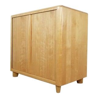 Heywood Wakefield Accordion Door Cabinet For Sale