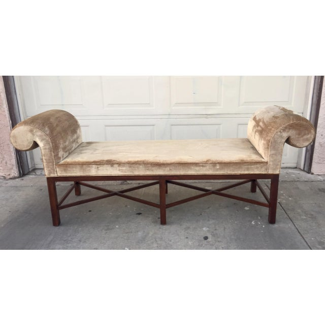 Thomas Pheasant for Baker Scroll Arm Bench - Image 2 of 5
