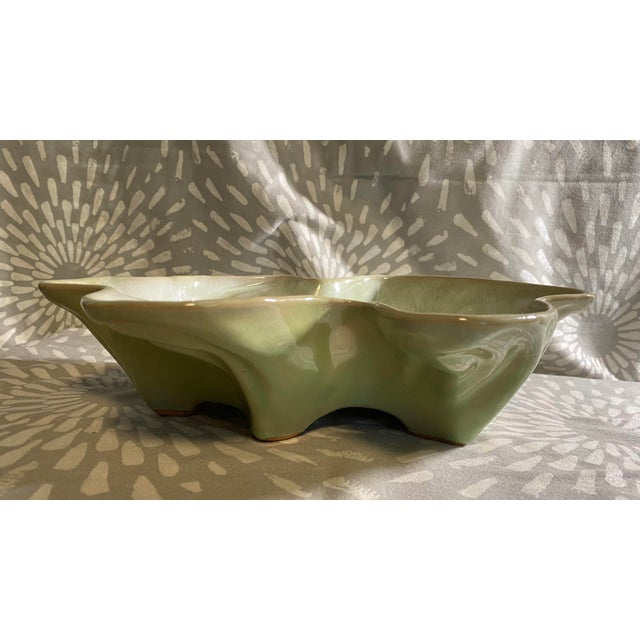 Mid-Century Modern Vintage Hammat Mid-Century Pastel Green Glazed Pottery For Sale - Image 3 of 9
